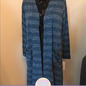 LuLaRoe long striped cardigan